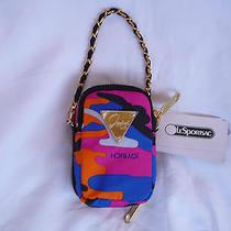 Nwt Lesportsac Joyrich Paula Candy Camo Wristlet Camera Chain Bag Photo