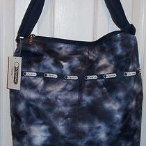 Nwt Lesportsac Large Cleo Crossbody Hobo  Aquarius  Cute Cute Bag Photo