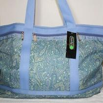 Nwt Lesportsac Large Travel Tote Shoulder Bag Duffel Lock 2keys Packable Paisley Photo