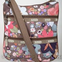 Nwt Lesportsac Pink Brown White Blue Kylie Crossbody Bag Purse Blissful Floral Photo