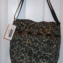 Nwt Lesportsac Small Cleo Crossbody  Army Cheetah  Cute Cute Bag Photo