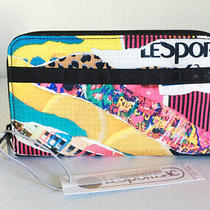 Nwt Lesportsac Taylor Zip Around Organizer Wallet - Y2k College Multicolor 75 Photo