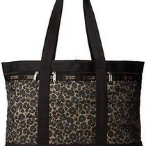 Nwt Lesportsac Travel Tote Handbag  Army Green Cheetah Medium  Pouch Photo