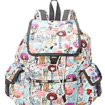 Nwt Lesportsac Voyager Backpack Art School  118 Photo