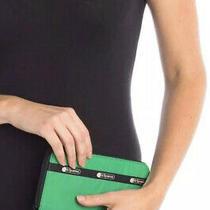 Nwt Lesportsac Womens Taylor Zip Around Wallet Kelly Green Photo