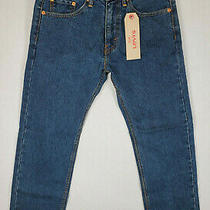 Nwt Levi's 505 Regular Fit Straight Leg Denim Jeans Size 29 X 30 Blue Dark Wash Photo