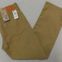 Nwt Levi's 514 Men's Straight Fit Corduroy Pants Size 36 X 30 Khaki Photo