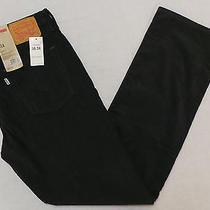 Nwt Levi's 514 Men's Straight Fit Corduroy Pants Size 36 X 34 Graphite Photo