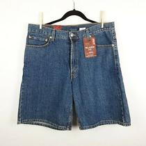 Nwt Levi's 550 Relaxed Fit Blue Jean Denim Red Tab Shorts Sz 36 Inseam 10