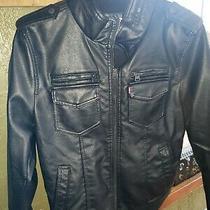 Nwt Levi's Mens Vintage Deer Faux Leather Sherpa Zip Up Trucker Jacket Sz Large Photo
