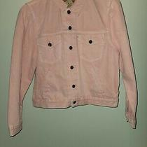 Nwt Levi's Women's Original Puff Sleeve Trucker Jacket Chalky Blush Red Size L Photo