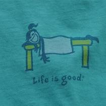 Nwt Life Is Good Crusher Shirt Woman's Jackie Massage Size Small Photo