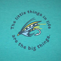 Nwt Life Is Good Fishing Lure the Little Things in Life Are Big T-Shirt Men S Photo
