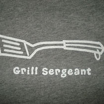 Nwt Life Is Good Grill Sergeant Spatula Heather Gray S/s T-Shirt Men S Photo