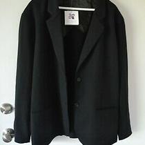 Nwt Lilac Bloom Women's Jacket Blazer Black Cotton Blend Plus Size 4xl Photo