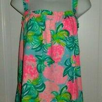 Nwt Lilly Pulitzer Blue Ibiza Pineapple Shake Jia Top Xl Photo