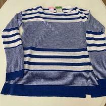Nwt Lilly Pulitzer Camilla Sweater -Somber Blue-Exotic Garden Stripe Size Xs Photo