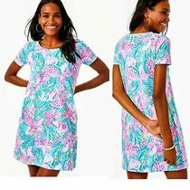 Nwt Lilly Pulitzer Cody T-Shirt Dress Blue Ibiza Gimme the Juice New Xl  Photo