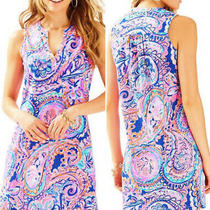 Nwt Lilly Pulitzer Dev Dress Blue Current Drop Me a Lime Sz Xl Photo