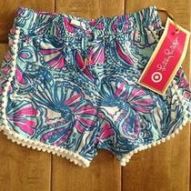 Nwt Lilly Pulitzer for Target Pompom My Fans Shorts Size 5t Photo