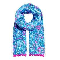 Nwt Lilly Pulitzer for Target Scarf With Pompoms in My Fans Photo