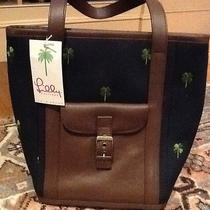 Nwt Lilly Pulitzer Hudson Bag in Navy With Clover Embroidery Shamrock  Purse Photo