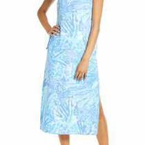 Nwt Lilly Pulitzer New Blue Haven Hey Hey Soleil Laken Midi Romper Dress 0 Photo