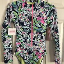 Nwt Lilly Pulitzer New Deep Sea Navy Begonia One Piece Swimsuit Size 2 Photo