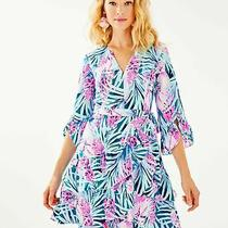 Nwt Lilly Pulitzer New Peacock Blue Tweethearts Laeda Stretch Dress Xs Photo