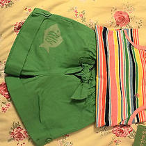 Nwt Lilly Pulitzer Pink Green Striped Fish Outfit Chloe Critter Shorts Tank 4 5 Photo