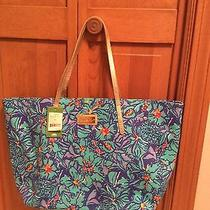 Nwt Lilly Pulitzer Resort Tote Handbag Bag Iris Blue