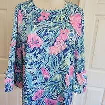 Nwt Lilly Pulitzer Women's Beach Club Blooms Christie Top Size M 128 Beautiful Photo