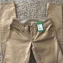 Nwt Lilly Pulitzer Worth Skinny Metallic Rose Gold Jeans.     00 Photo