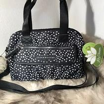 Nwt Lily Bloom Abigail Satchel - Dancing Dots Black Print Photo