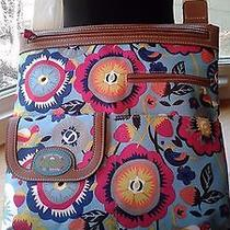 Nwt Lily Bloom Purse Large Christy Cross Body Purse Blue Pink Strawberries Photo