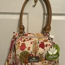 Nwt Lily Bloom Tan Forest Owl Triple Section Maggie Satchel Purse Foxporcupine Photo