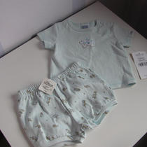 Nwt Little Me Vintage Toys Playtime 3m Baby Boy Aqua/blue Puppy Shirt and Shorts Photo