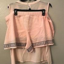 Nwt Liz Claiborne Women's Xxl Blush Pink Black Embroidered 2 Piece Pj Pajama Set Photo