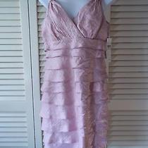 Nwt London Times Pink Blush Layered Ruffled Summertime Dress Sz 10 Photo