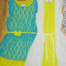 Nwt Lot 2 Blush by Us Angels Blue Yellow Lace White Dress Size 14 Photo