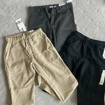 Nwt Lot of 3 Pants Joggers Sweats Boys Sz12-14 Zara Old Navy cat&jack Photo