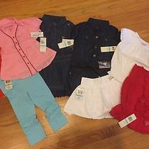 Nwt Lot of 8 Pc Guess Girls Top / Pants - Size 5 Photo