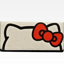 Nwt Loungefly Hello Kitty Sanrio Canvas Big Face Trifold Wallet Clutch Photo