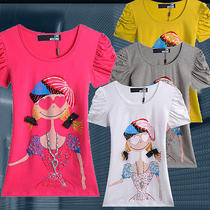 Nwt Love Moschino Girl/lady's Fashion Style 3d Catoon Girl Basic T-Shirt 4color Photo