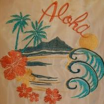 Nwt Love Tree Embroidered Jacket Full Zip Womens Size S Aloha Tropical Blush Fun Photo