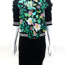 Nwt Lovers  Friends Black Floral Bomber Jacket Size Xs Photo