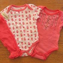 Nwt Lucky  3pc Set Girls 2 Bodysuit Romper/layette /legging Clothes Sz 3/6 Mo Photo