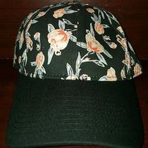 Nwt Lucky Brand Mark Garden Black Baseball Hat Floral Adjustable Photo