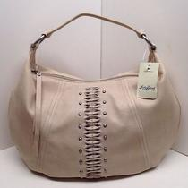 Nwt Lucky Brand Pomona Leather Sand Hobo  Photo