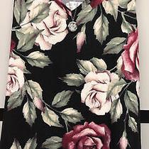 Nwt Lularoe 2xl Black Maroon Blush Green Big Flowers Floral Kristina Tank Top Photo